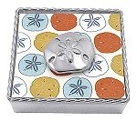 Mariposa Twisted Napkin Box with Sand Dollar Weight