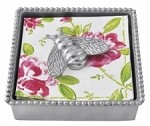 Mariposa Beaded Napkin Box with Bumblebee Weight