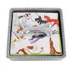 Mariposa Beaded Box with Dog Bone Weight