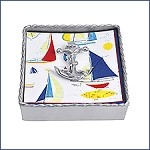 Mariposa Twisted Napkin Box with Anchor Weight