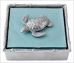Mariposa Bamboo Napkin Box with Sea Turtle Weight