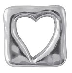 Mariposa Square Open Heart Napkin Weight/Napkin Ring