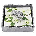 Mariposa Sue�o Napkin Box with Blossom Weight