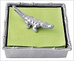 Mariposa Bamboo Napkin Box with Alligator Weight