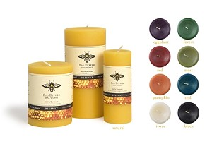 100% Bees Wax Pillar Candle