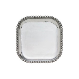 Mariposa Pearled Platters in square, rectangle, and long